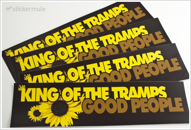 Custom Bumper Stickers for King of Tramps