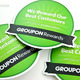 Custom die cut stickers for Groupon Rewards