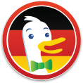 DuckDuckGo German Unity Day Sticker