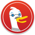 DuckDuckGo Ghandi Sticker