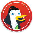 DuckDuckGo Vampire Sticker