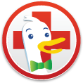 DuckDuckGo Red Cross Sticker