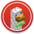 DuckDuckGo Minecraft Sticker
